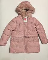 Зимняя куртка для девочек на рост 128 см