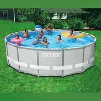 Каркасный бассейн Intex, 28326 (54470) (488*122 см) c хлорогенератором и песочным фильтром
