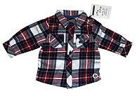 Байковая рубашка в клетку для новорожденного 0-3 мес Sergent Major Франция