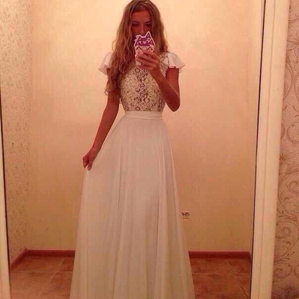 Белое вечернее платье (55 фото) в пол макияж красивые нарядные с рукавами