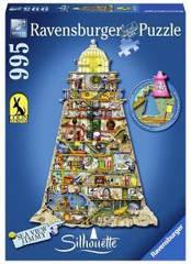 Пазлы Ravensburger силуэт-пазл Смешной маяк 995 элементов 160983