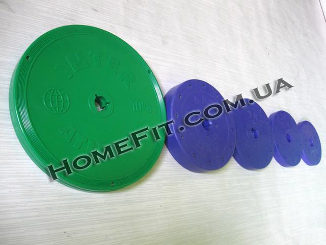 Блины 0,5 - 10 кг с пластиковым покрытием (25мм)