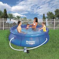 """Семейный надувной бассейн BestWay, 57100 """"Наливной"""" 2300 литров, фильтр в комплекте (244*76 см)"""