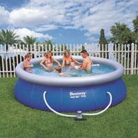"""Семейный надувной бассейн BestWay, 57166 """"Наливной"""" 6844 литра, фильтр в комплекте (366*91 см)"""
