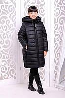 Зимнее пальто для девочки «Ангел», черное