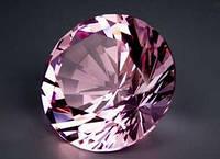 Хрустальный бриллиант Розовый