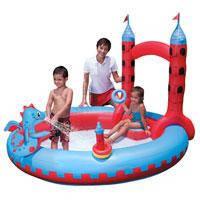 """Надувной детский игровой центр - бассейн Bestway, 53037 """"Замок Дракона"""""""