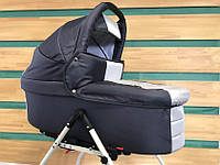 Универсальная детская коляска для двойни  2 в 1 Jumper Trans Baby Duo 08/16,  т.серый+металлик