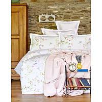 Набор постельное белье с пледом Karaca Home - Laticia Pembe 2018-1 розовый евро