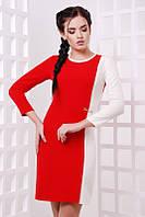 Платье Aster красный+молоко