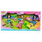 Набор из трех кукол с аксессуарами (аналог Winx)