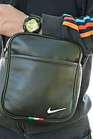 Мужская кожаная сумка Nike