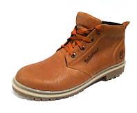 Мужские ботинки Timberland зимние натуральные кожаные рыжие 0038ТМ