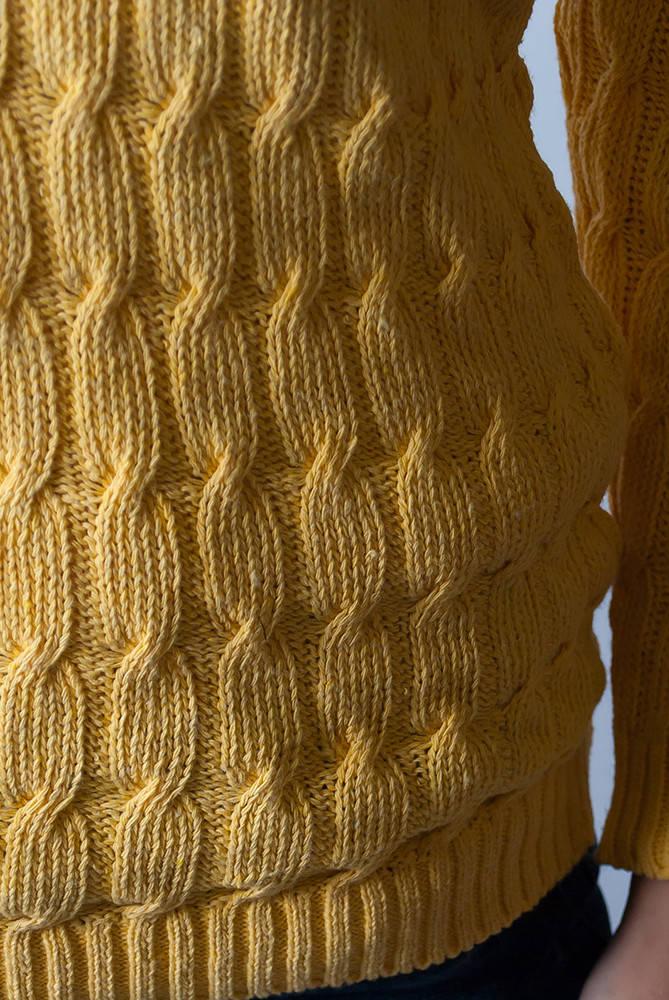 Свитер в полоску 46F090 (Желтый)