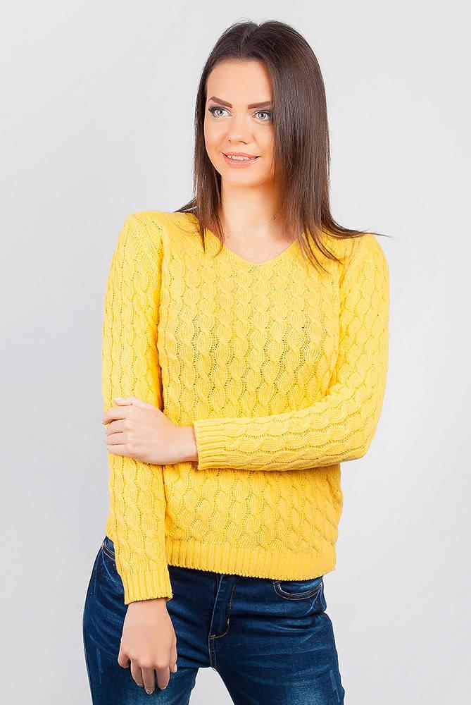 Джемпер однотонный 46F091 (Желтый)