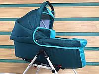 Универсальная детская коляска для двойни  2 в 1 Jumper Trans Baby Duo, 30/х99, т.зелёный+бирюза