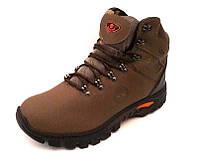 Мужские ботинки Timberland зимние натуральные кожаные коричневые 0037ТМ