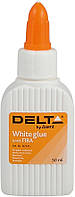 Клей ПВА (Delta by Axent, 50 мл., колпачек-дозатор, D7121)