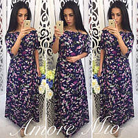 Платье в пол с цветами, фото 1