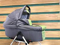 Универсальная детская коляска для двойни  2 в 1 Jumper Trans Baby Duo 39/Q1, серый+салат