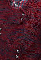 Кардиган стильный 270F005 (Бордово-синий)
