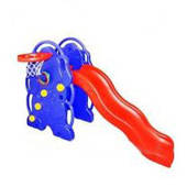 Пластиковая детская горка  Bambi M 0262 + баскетбольное кольцо