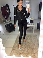 Черные бархатные лосины