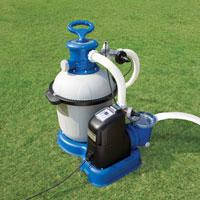 Фильтр-насос Intex, 28682 (56682) с песочным фильтром и хлор-генератором