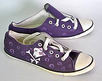 Кеды Черепа OK-7286 (фиолет)