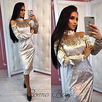 Платье велюр мраморный 3 цвета, фото 1