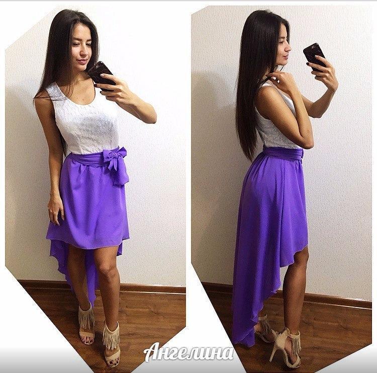 Платье верх гипюр , низ удлинен