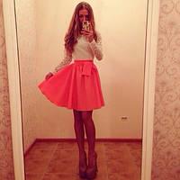 Платье верх гипюр,низ любой цвет, фото 1