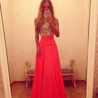 Платье верх кружево,низ яркий