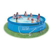 Семейный надувной бассейн Intex, 28162 (54914)(457*91 см) c насосом