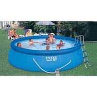 """Семейный надувной бассейн Intex, 54916 """"Наливной"""" (457*122 см) + насос"""