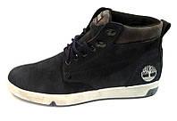 Ботинки мужские зимние Timberland замшевые синие 0012ТМ
