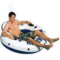 Пляжное надувное кресло - круг Intex, 58825 River Run со спинкой