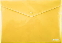 Папка на кнопке (Axent, непрозрачная. Желтая, 1412-26-А)