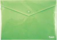 Папка на кнопке Axent непрозрачная зеленая 1412-25-А