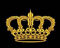 Дизайн машинной вышивки короны 175 х 121 мм для вышивки на халатах и готовых изделиях