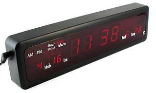 Часы электронные Led Digital Clock CX-808 green