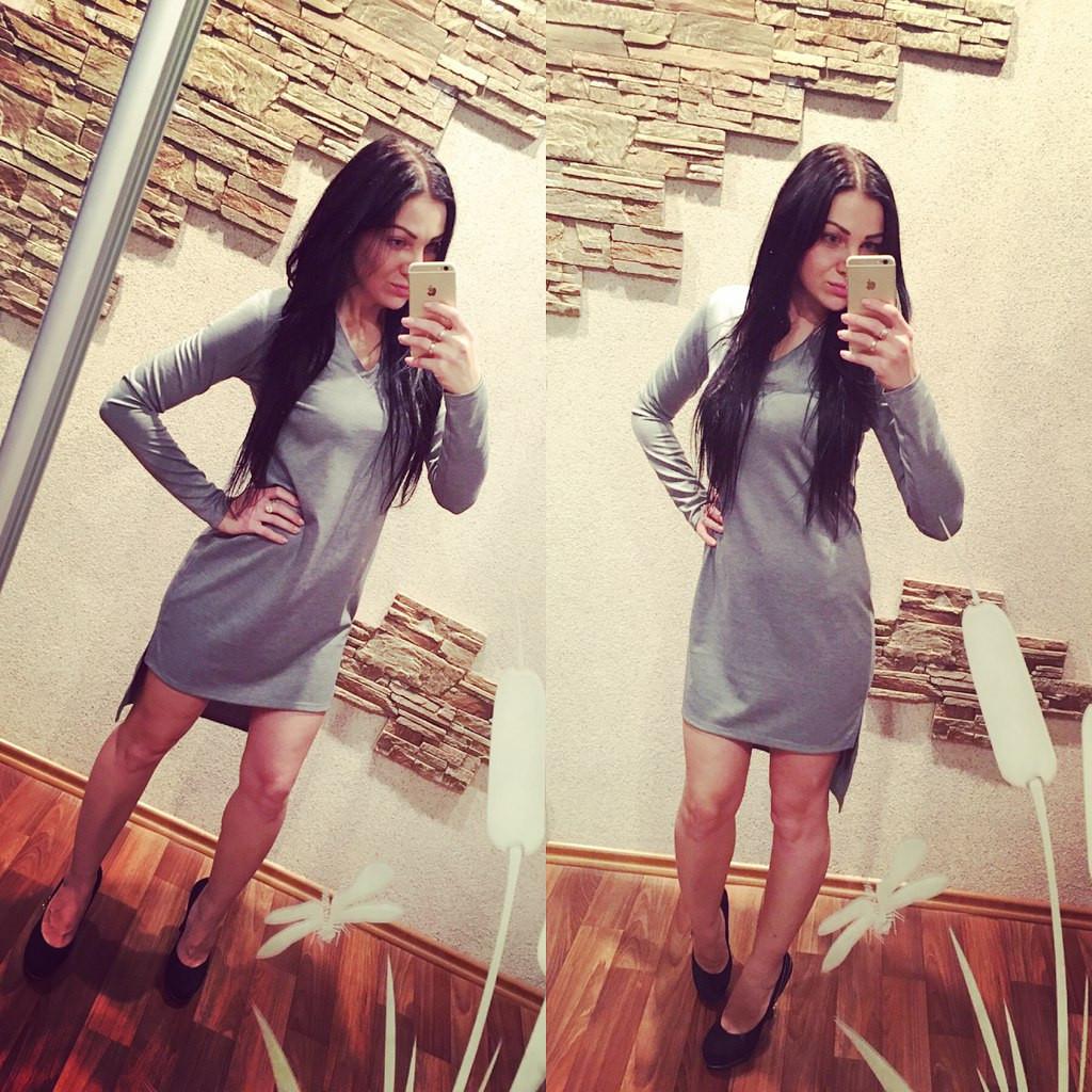 Платье вырез мысиком ,спинка длиннее переда