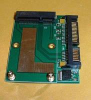 Адаптер переходник для SSD дисков mSata на Sata