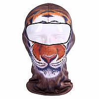 Подшлемник 3D с принтом зверей