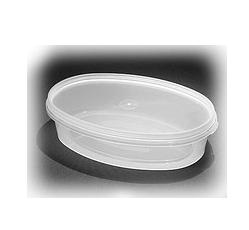 Судок 0,3 л. овал пластиковый для пищевых продуктов код 38S, фото 2