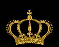 Дизайн машинной вышивки короны 165 х 125 мм для вышивки на халатах и готовых изделиях