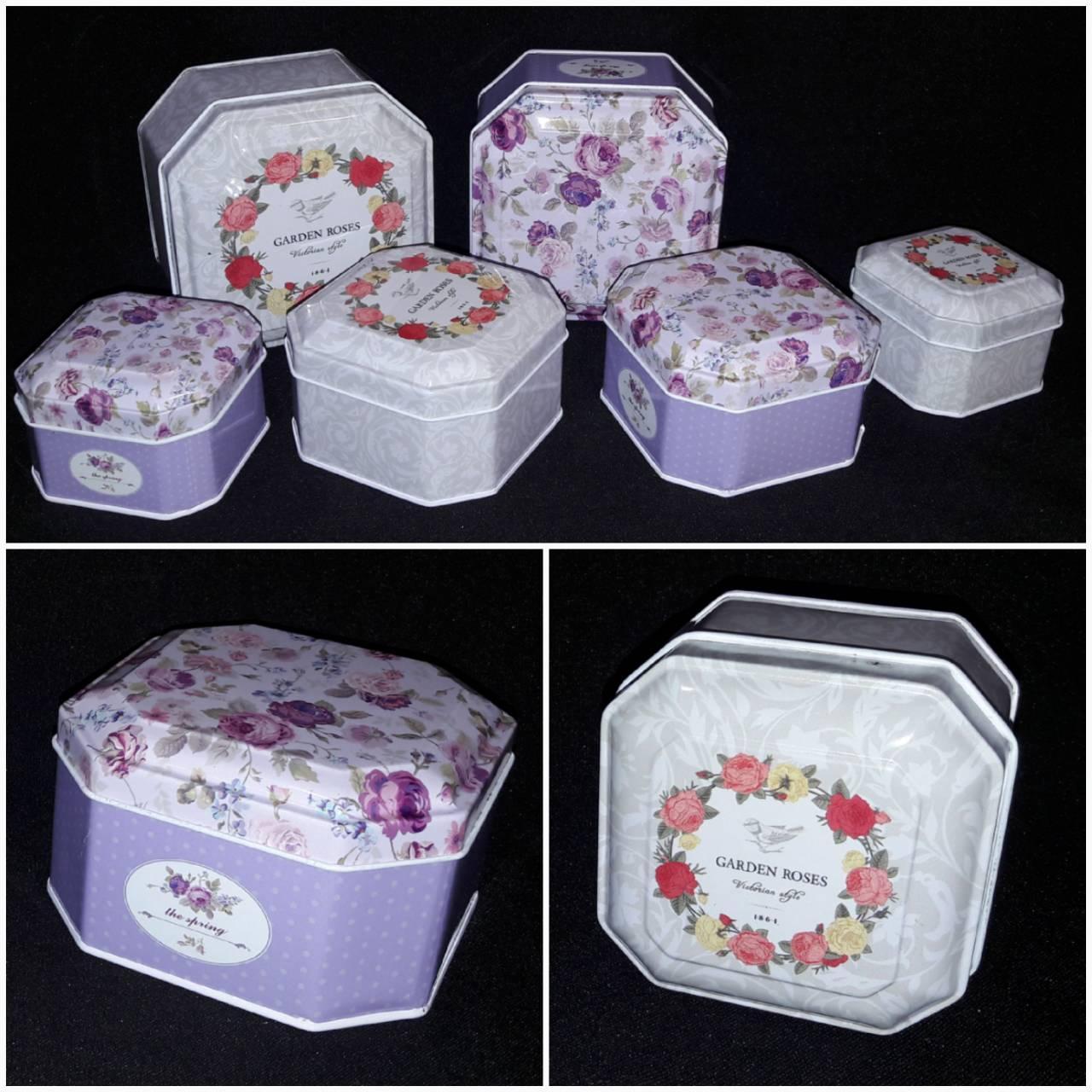 Красочная коробочка для подарков, металл, 6х4.5 см., 40 гр.