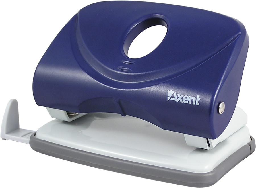 Дырокол Axent 30 л Welle пластик синий 3830-02-А