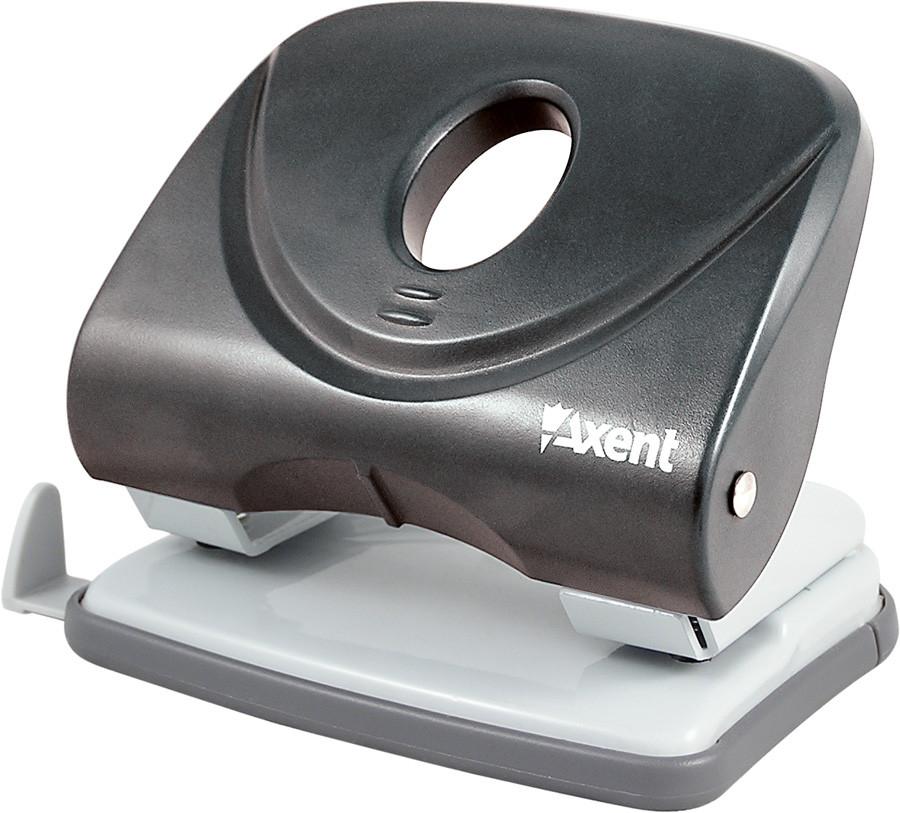 Дырокол Axent 30 л Welle пластик черный 3830-01-А