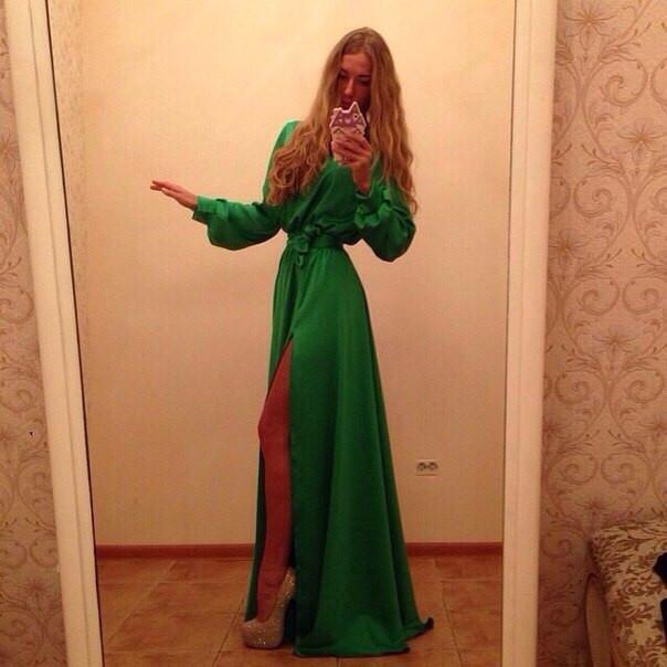 9e91281ad35 Платье длинное закрытое с разрезом сбоку - Ева21века. Все вопросы на  viber whatsApp +